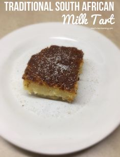 Milk tart is a traditional South African tart which are enjoyed with tea or coffee. Try it today! South African Desserts, South African Recipes, Lemon Meringue Tart, Meringue Pie, Milk Tart, Custard Desserts, Tasty Bites, Banana Bread Recipes, No Bake Cake