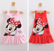 Retail 2013 Kids girls clothes cute Mickey Mouse Minnie Dress, 2 colors of red and pink mini Clothes, baby girls clothing dress Dresses Kids Girl, Kids Outfits Girls, Toddler Girl Outfits, Kids Girls, Baby Girls, Girls Fit, Toddler Dress, Summer Cartoon, Girl Cartoon