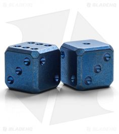 Flytanium Cuboid Large Titanium Dice - Blue SW (Set of Game Ideas, Game Pieces, Marbles, Dungeons And Dragons, Soaps, Project Ideas, Decir No, Puzzles, Board Games