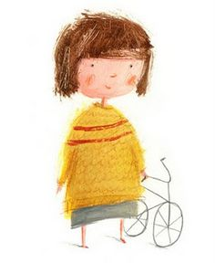How cute! I just adore the looseness of her piece and characters.