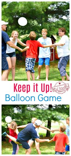 Just Keep it Up - A Fun Balloon Game for Kids, Teens, and Adults to Play - Party Planning / games for kids - Just Keep it Up – A Fun Balloon Game for Kids, Teens and Adults to Play – perfect for indoor or - Balloon Games For Kids, Group Games For Kids, Indoor Games For Kids, Games For Teens, Family Games, Adult Games, Fun Games For Adults, Camping Games For Kids, Outside Games For Kids