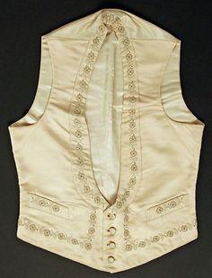 Wedding vest Date: 1892 Culture: American Medium: silk Accession Number: C.I.42.61.1