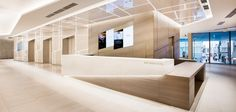 """Ginza area's greatest commercial facilities """"GINZA SIX. Reception Counter Design, Office Reception, Function Hall, Office Lobby, Clinic Design, Waiting Area, Shop Interior Design, Wall Design, Luxury Shop"""