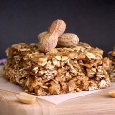 No-bake Peanut Butter Butterscotch Granola Squares--sweet like dessert, but healthy enough for breakfast! #foodgawker