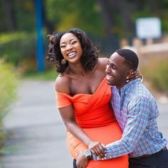 """""""After 6 months of him wooing you you decide to see why God has kept this guy around steadily for so long. This was by far one of the best decisions I made in my life. I have a man who understands me adores me accepts my flaws and highlights my strengths."""" Head to the blog for more of Uchenna  Ikechukwu's charming love story & view their engagement session photos shot by #munacoterie member Rando of @weddingpix!  #munaluchibride #munaluchi #love #blacklove #newjerseyweddings #newjerseylove"""
