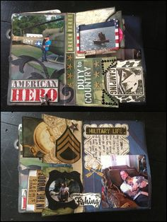 Army Scrapbook Journal Memory Book Keepsake by PaperLuxuries, $250.00 Army wife. Army girlfriend. USA. Fourth of July.