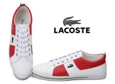 Lacoste Mens Sneaker White Red