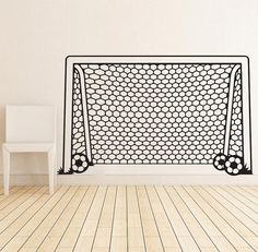 Sport Soccer Wall Decal Art Decor Sticker Vinyl Size: W x H x Ideal for Walls, Furniture, Vehicle and any clean