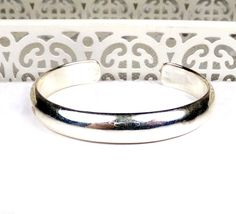 Sterling Silver Ladies Solid 925 Genuine Stack Cuff bangle Bracelet #Unknown #Cuff