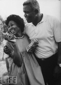 loveupclose: Jackie and Rachel Robinson. Their favorite past time