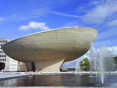 The Egg – Albany, New York. The Egg is a performing arts venue in Albany, New York. Named for the shape it resembles, it was designed by Harrison & Abramovitz as part of the Empire State Plaza project, and built between 1966 and 1978. It is located in the northeast corner of the Plaza. It has become an icon of Albany's Capital District, due to its unusual shape and central location.