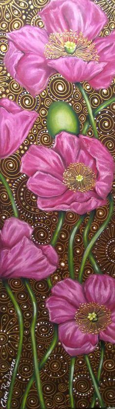 """Saatchi Art Artist Cherie Roe Dirksen; Painting, """"Pink Poppies"""" #art"""