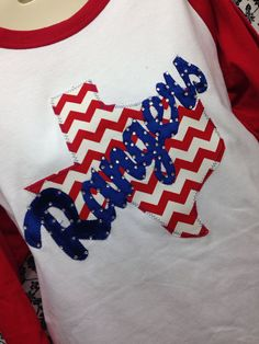 Chevron Texas Rangers 3/4 Sleeve Shirt by ThreadsToo on Etsy, $35.99