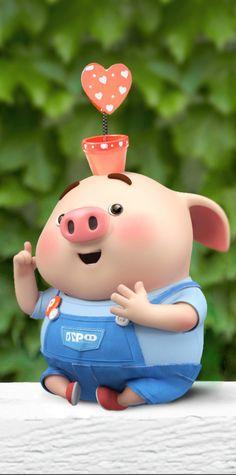 Pig Wallpaper, Funny Phone Wallpaper, Disney Wallpaper, This Little Piggy, Little Pigs, Cute Rabbit Images, Cute Piglets, Pig Drawing, Pig Illustration