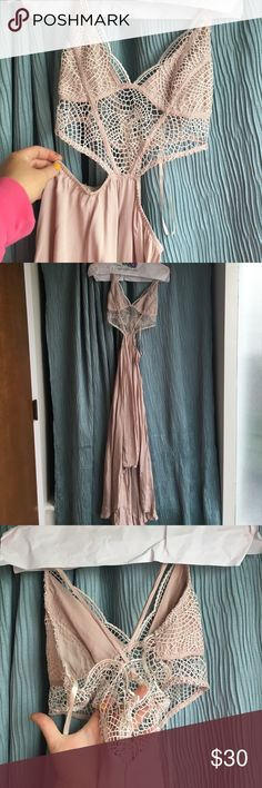 Light Pink Cut Out Dress Worn once Dresses High Low