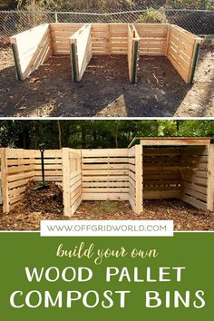 Composting At Home, Composting Bins, Garden Compost, Build Compost Bin, Vegetable Garden Design, Raised Garden Beds, Outdoor Projects, Garden Projects, Garden Planning