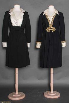 Two De La Renta Cocktail Dresses, 1970-1980