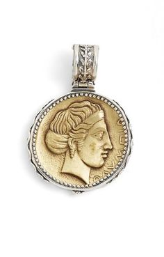Konstantino Pisces Carved Zodiac Pendant with Diamonds