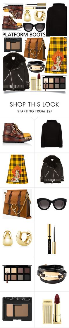 """""""Platform Boots"""" by ittie-kittie ❤ liked on Polyvore featuring Prada, Jaeger, Gucci, Acne Studios, Chloé, Muse, BERRICLE, Down to Earth, McQ by Alexander McQueen and NARS Cosmetics"""