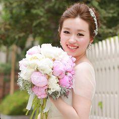 芍薬のブーケ(*^_^*)生花でお作りしています♡  #St.Mary's #ウェディングブーケ #ブーケ #bouquet  #wedding #オーダーメイド #芍薬