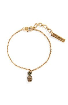 Free shipping and returns on MARC BY MARC JACOBS Pineapple Charm Bracelet at Nordstrom.com. A playful pineapple charm dangles from the slender chain of a festive bracelet that will sway from your wrist with every step.