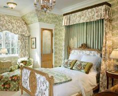 Stunning British Style Bedroom Decorating Ideas One of the greatest things about decorating your house in the shabby chic style is it does not need to be costly. There are lots of interior designing ideas which you could use. Bedroom Green, Home Bedroom, Bedroom Decor, Bedroom Ideas, Master Bedroom, Dream Bedroom, French Decor, French Country Decorating, Beautiful Bedrooms