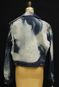 back 1991 Vivienne Westwood Marlene Dietrich print denim Jacket
