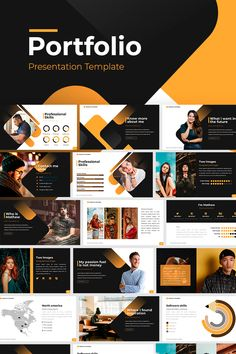 Banners Portfolio PowerPoint Template How to play anima Portfolio Design Layouts, Template Portfolio, Design Portfolios, Design Sites, Web Design Tutorials, Design Design, Graphic Design, Presentation Layout, Business Presentation
