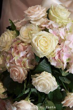 rose e ortensie