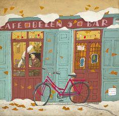 Pinzellades al món: Il·lustracions de bicicletes / Ilustraciones de bicicletas