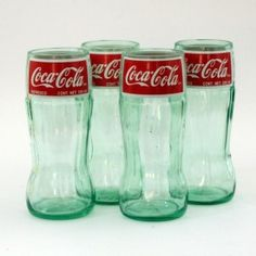 - Coca Cola Juice Glasses - Made From Bottles -  Set Of 4, 8oz  - hipcycle.com -