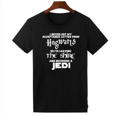 Wish   Hogwarts Lord of the Rings JED Star wars Men's harajuku T Shirt The Hobbit Men Women Letter Print Hispter Shirts Summer Tops