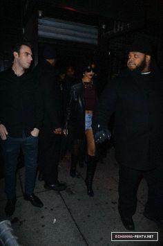 12-20-13 Rihanna arrives at Pink Elephant nightclub in NYC - 003 - Rihanna-Fenty.net