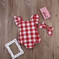 Savannah ruffled onesie from Lenny Lemons