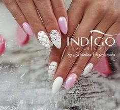 by Karolina Orzechowska Indigo Educator -Follow us on Pinterest. Find more inspiration at www.indigo-nails.com #nailart #nails #indigo #pastel #pink #chanel