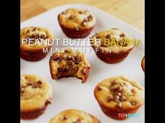 *GF Peanut Butter Banana Muffins 1 medium ripe banana, peeled 1 large egg 1/2 cup creamy peanut butter 3 tablespoons honey 1 tablespoon vanilla extract 1/4 teaspoon baking soda pinch salt, optional and to taste (I used a pinch that was probably about 1/8 tsp) 1/2 cup mini semi-sweet chocolate chips, divided