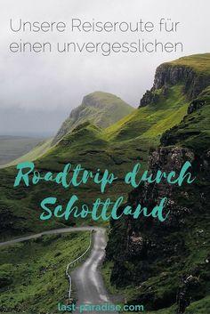 Die Reiseroute für einen unvergesslichen Roadtrip nach Schottland. Alle Etappen, Highlights und Sehenswürdigkeiten auf unserer zweiwöchigen Rundreise durch Schottland.