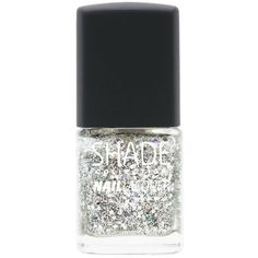 Lane Bryant All That Glitters nail lacquer, Silver Glitter (24 MYR) ❤ liked on Polyvore featuring beauty products, nail care, nail polish, nail, makeup, silver glitter, lane bryant, silver sparkle nail polish, holiday nail polish and silver nail polish