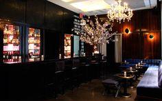 60 Thompson Thom Bar's plush yet sleek interior in SoHo New York City.