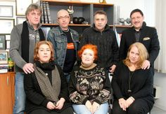 A memorable picture which reminds creating the Foundation of the late Bulgarian theatre director Krikor Azarian in the office of M3 Communications Group, Inc. with the presence of her wife, daughter and his students, now great actors.