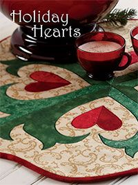 Holiday Hearts Appliqué Table Topper Quilt Kit