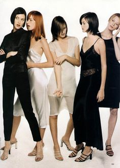 Shalom, Meghan, Amber, Trish and Kristen by Steven Meisel.