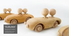 """""""KURUMA"""" designed by FLOWERS. by baum-kuchen. KURUMA is a handmade wooden toy full of personality and charactery. It is designed and made by a wood artist FLOWERS studio in Yakushima, Japan, an island south of Kagoshima prefecture."""