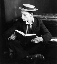 Buster Keaton reads
