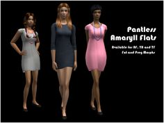 Credits. EAxis for the original dress mesh and textures. Anna for the colour actions. Synergy for being my awesome preview angel. SimsPendly for the original TS3 sneaker mesh and textures. Steffano...