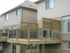 great louvered privacy panels deck