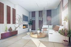 Proiect superb de casa cu mansarda in suprafata de 90 mp! Design Case, House Design, Living Room, Furniture, Home Decor, Japanese, Houses, Japanese Language, Sitting Rooms