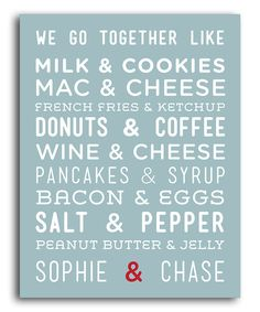 Take a look at this 'We Go Together' Personalized Print on zulily today!
