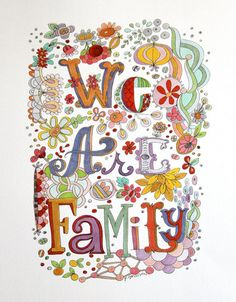 We Are Family art print by Pam Garrison, available on Etsy