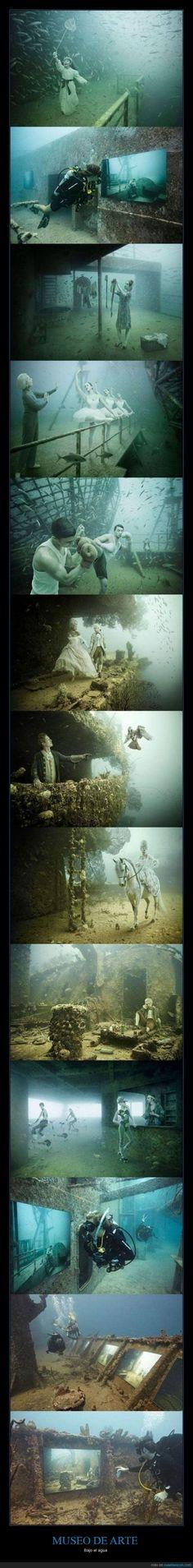 Espectacular museo de arte bajo el agua
